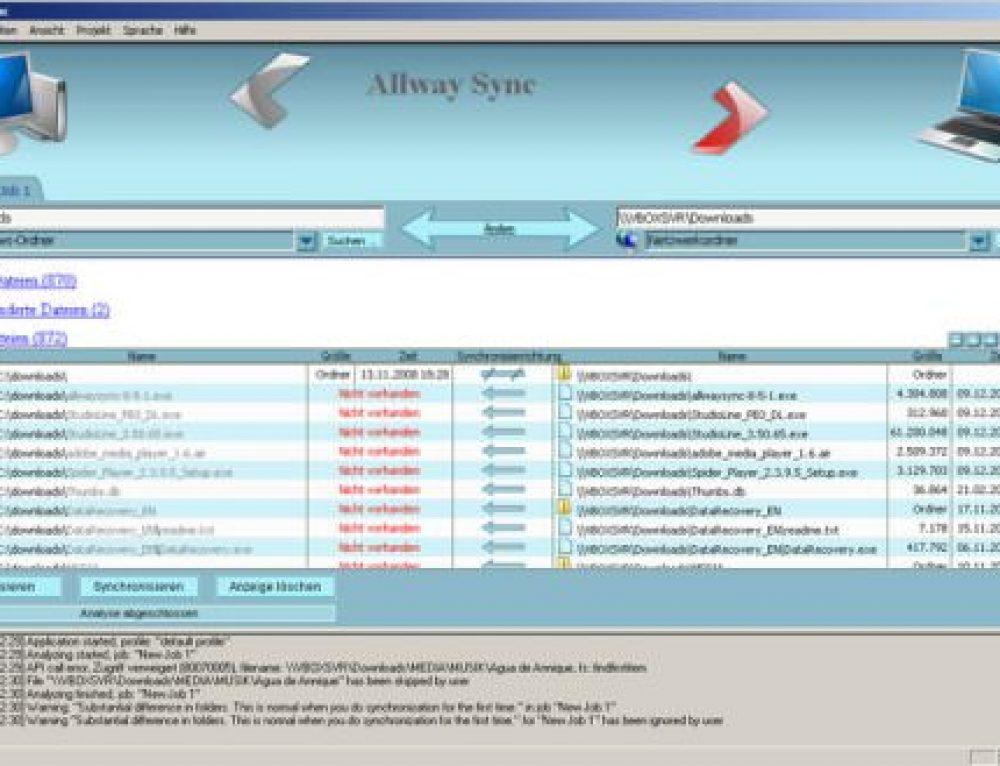 Copia de seguridad y sincronización de datos para los discos duros